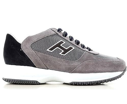 Hogan Scarpe Uomo New Interactive H Flock Etichetta HXM00N0Q102I9L413K  Grigio (43.5 EU - 9.5 UK 0c60a58949e