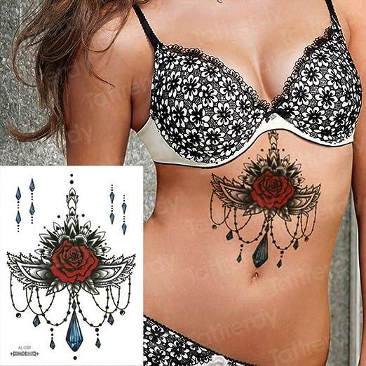 Handaxian 3 Piezas Tatuaje Pegatina Mujer árabe Pecho Tatuaje ...