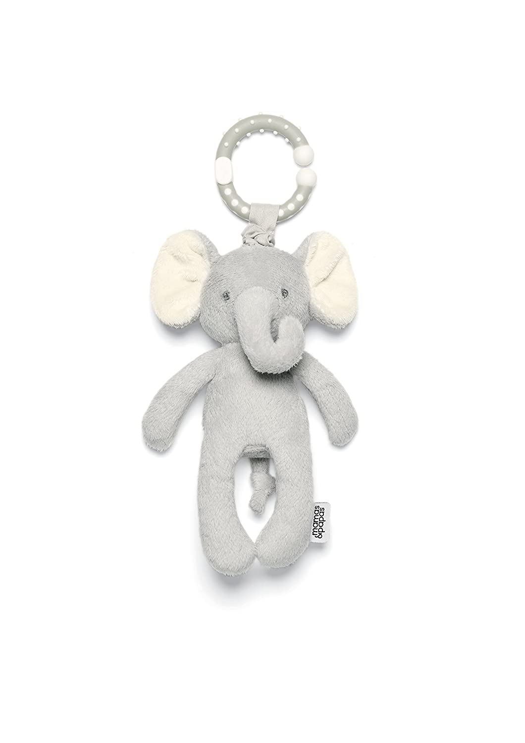Mamas & Papas Jitter Elephant Travel Toy, Grey, Soft Toy, Baby/Infant Toy 4855AF720