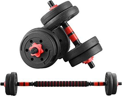 Adjustable 10kg Dumbbell Barbell Set Gym Home Exercise Fitness Dumbbells Weight