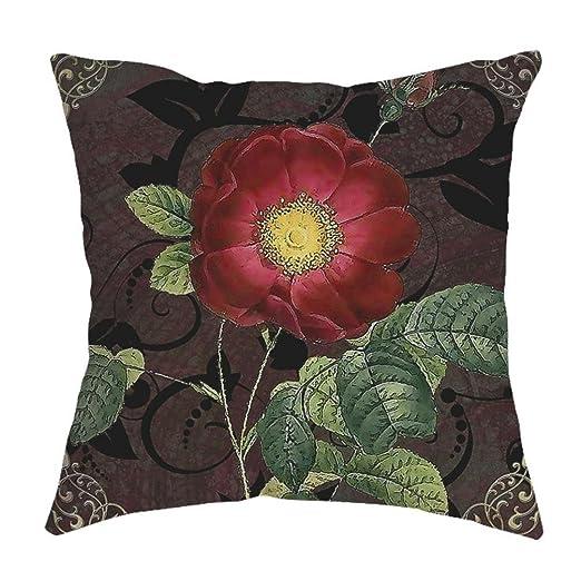 Fossrn Fundas Cojines 45x45, Vintage Floral Funda de ...