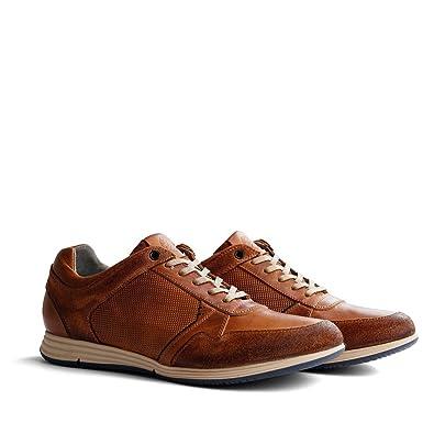 Travelin' Corton Leather Sneaker | Schnürhalbschuhe Herren | Freizeitschuhe  Sportschuhe | Leder Cognac 40 EU