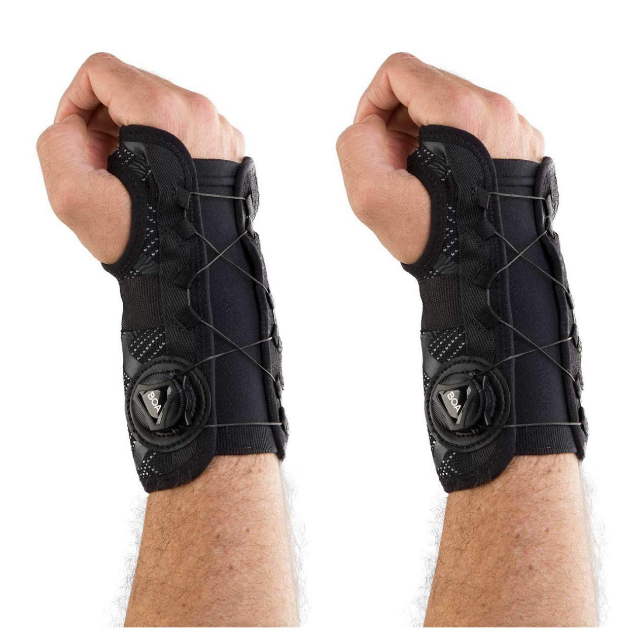 DonJoy Performance Bionic Reel-Adjust Wrist Braces (Right and Left Pair) - Medium/Large - Value Bundle