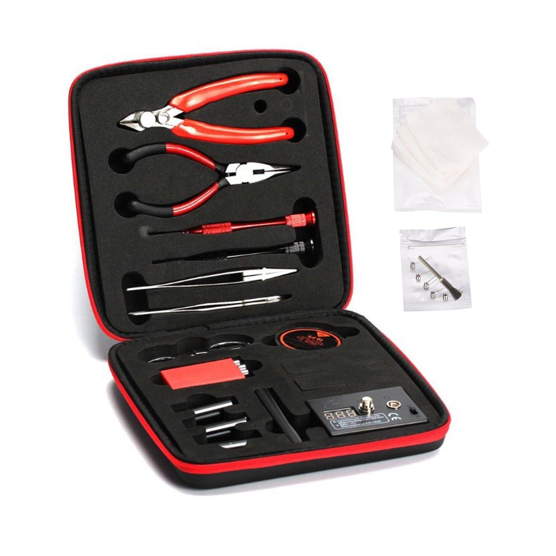 SanQiQi DIY Coil Tool Kit Wire Cutter Tweezers Screwdriver Coil Winder Kit Ohm Tester Case
