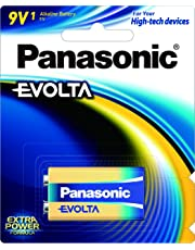 Panasonic Premium Alkaline 9V Evolta Battery, 1pack, (6LR61EG/1B)
