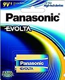 Panasonic 9V Evolta Battery, 1pack, (6LR61EG/1B)