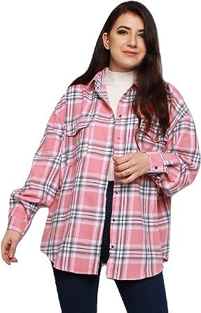 Momo&Ayat Fashions - Camisa de Franela para Mujer (Talla 38-44): Amazon.es: Ropa y accesorios