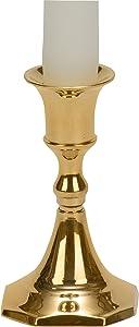"""Biedermann & Sons Brass Candlestick Holders (Box of 6), 3.75"""""""