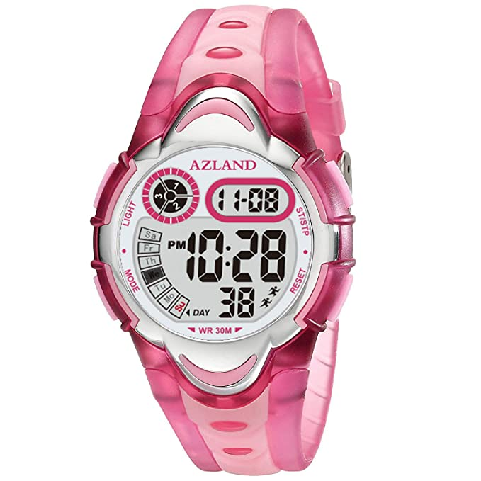 Gold watch for kid - AZLAND Waterproof Swimming Frozen Sports