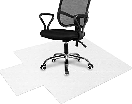 Amazon Com Hokeki Office Chair Mat For Hardwood Floor 36 X 48 With Lip Transparent Floor Mats For Rolling Chairs Wood Tile Protection Mat For Office Home 36 X 48 Office