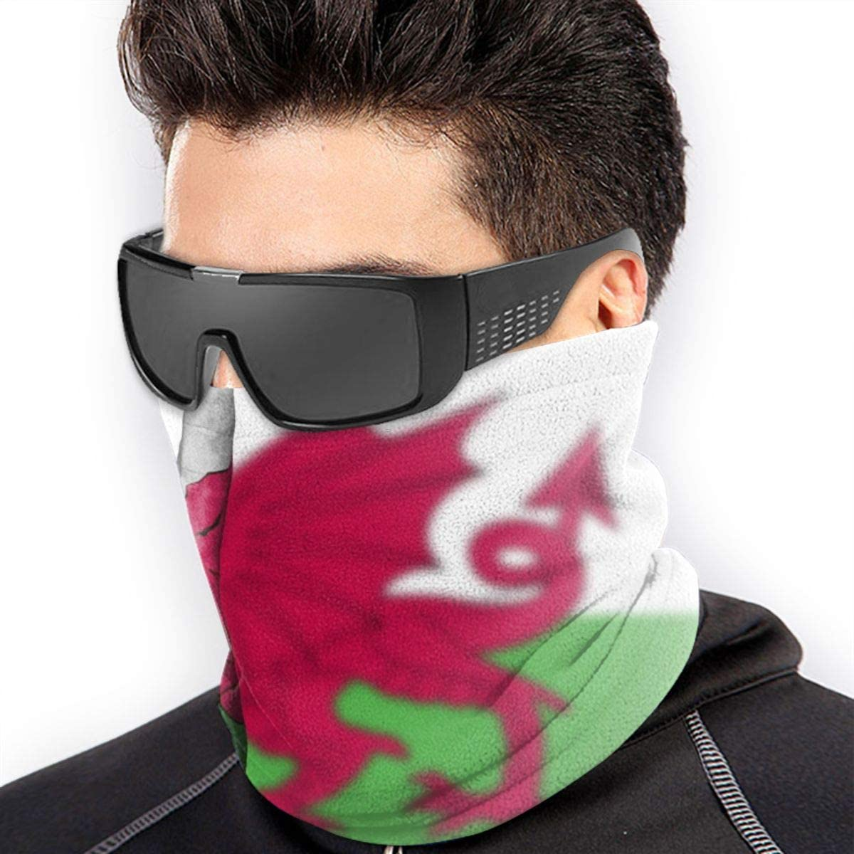 Persons Left Hand With Red And White Paint Mask Seamless Neck Gaiter Shield Scarf Bandana Face Mask Seamless UV Protection For Motorcycle Cycling Riding Running Headbands