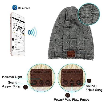 Auriculares Bluetooth Gorra 8db7ba652fa