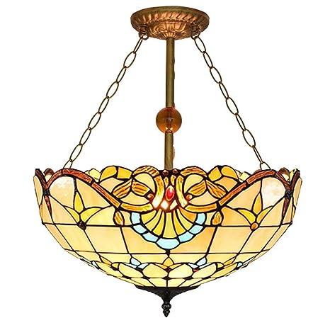 Candelabros de estilo Tiffany de 50 cm, luz de techo de ...