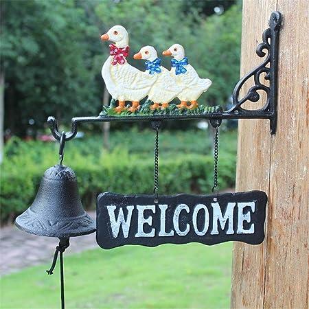 WiaLx Inicio Decoraciones del jardín de Hierro Fundido Crafts Retro Campanas Tres Patos Timbre de la Puerta Monta Campana (Color : Multi-Colored, Size : Free Size): Amazon.es: Hogar