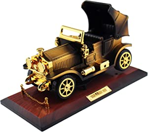 Tipmant Vintage Car Music Box Antique Vehicle Model Home Wall Room Décor Decoration Kids Gifts (Brown)