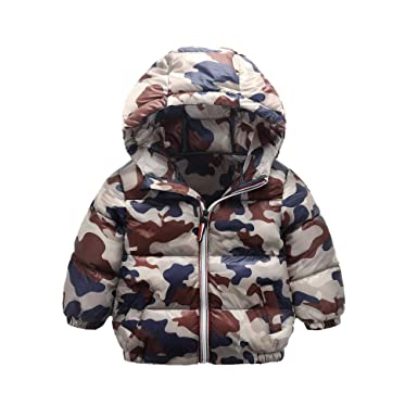 45857f1ba3ec BabyFat Children Unisex Boys Girls Padded Jacket Coat Hooded Autumn ...
