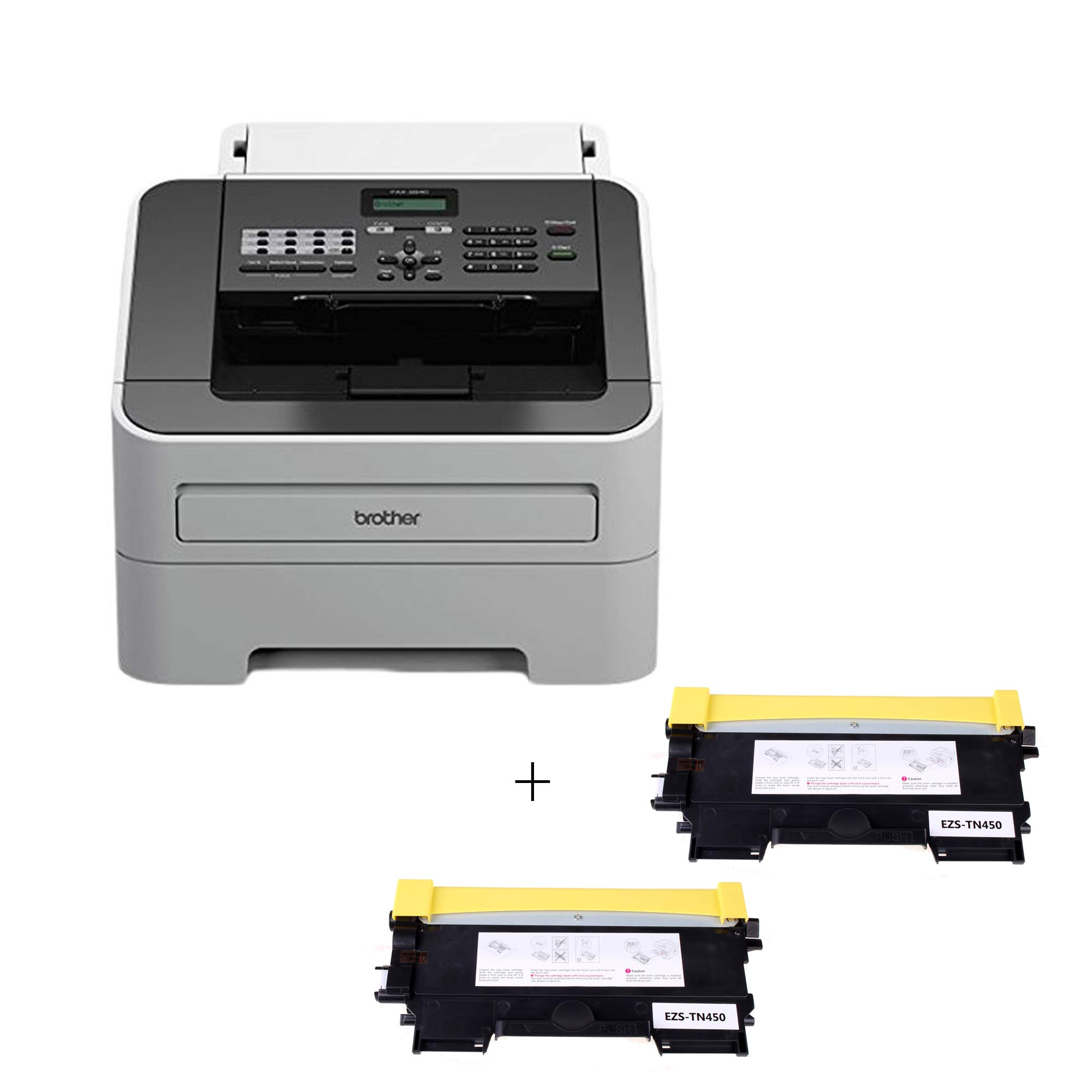 Brother FAX2840 intelliFAX-2840 Mono Laser High Speed Copy/Fax/Print Machine (1 ea FAX2840 + 2 Pack TN450 Toners)