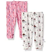 Rosie Pope Girls Baby 2 Pack Pants (More Options Available), Geo/White Bunny, 0-3 Months