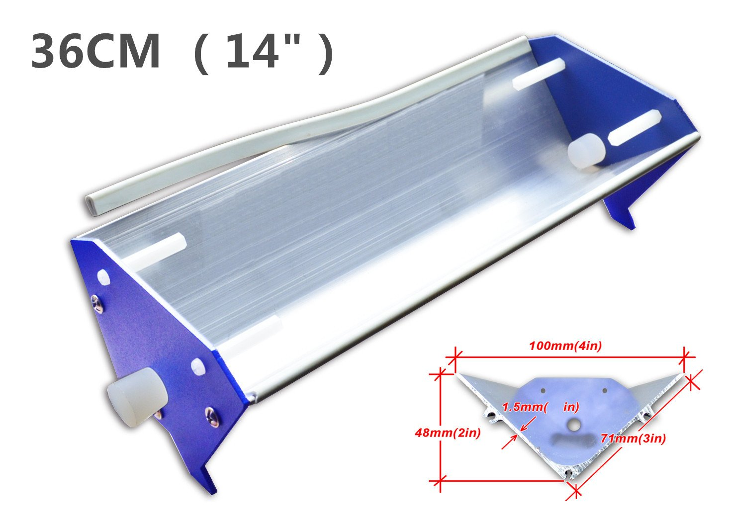 Emulsion Scoop Coater Silk Screen Printing Aluminum Coating Tools DIY Apply (14 inch (36 cm))