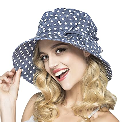 Women Ladies Sun Protection Bucket Hats Anti-UV Foldable Floppy Cotton Sun  Hats Fisherman Hat 9492e516c7d