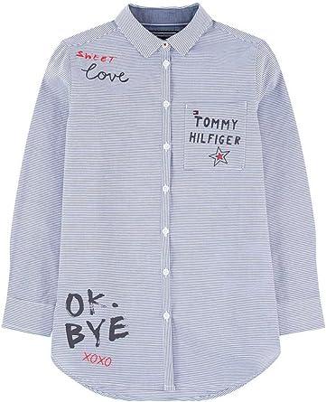 Tommy Hilfiger Camisa Slogan Azul 10 Azul: Amazon.es: Ropa y accesorios
