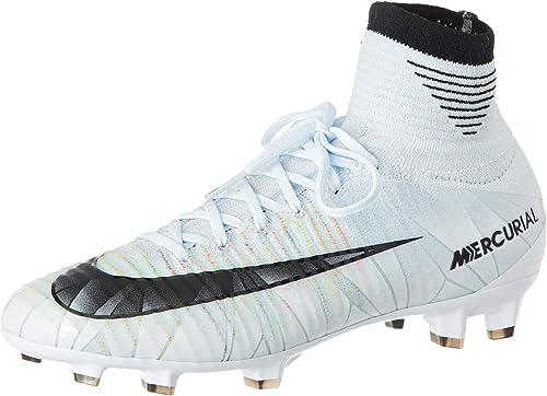 NIKE Junior Mercurial Superfly V CR7 Dynamic Fit (FG) Kids' Firm Ground Football Boot Blue TintBlack White Volt 1718