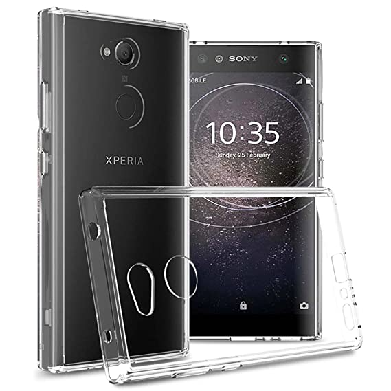 new arrival c1706 b7cfa Sony Xperia L2 Case, CoverON ClearGuard Series Hard Slim Fit Phone Cover  with Clear Back and Flexible TPU Bumpers for Sony Xperia L2 - Clear