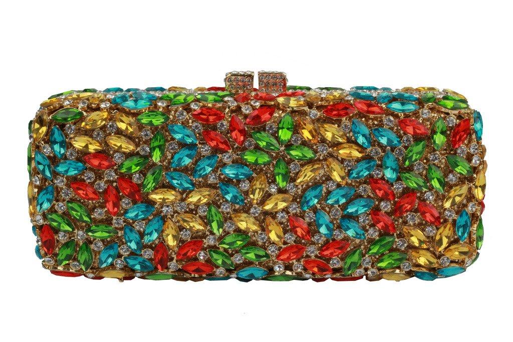 YILONGSHENG Long Style Crystal Clutch Bags For Women EB0561 Multicolor by YILONGSHENG