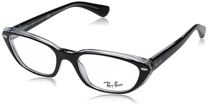 43d3de6d53949 Amazon.com  Ray-Ban Women s RX5242 Eyeglasses Top Black On ...