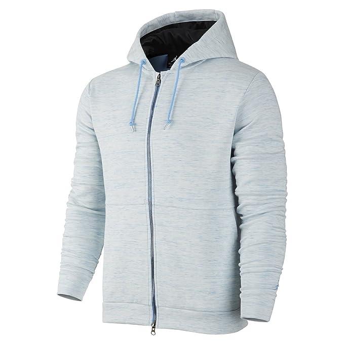 f52e59b9563f Nike Men s AJ XI Pinnacle Fleece Hoodie Legend Blue Black 2XL 632072-448   Amazon.ca  Clothing   Accessories
