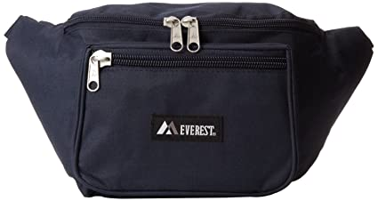 fe17f886681f Everest 044XLD Extra Large Fanny Pack, Navy, Single Fanny Pack