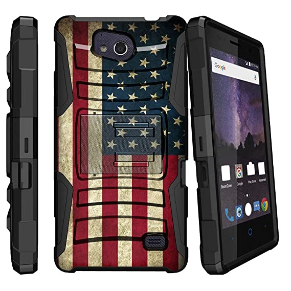 innovative design b6a90 e9a6d MINITURTLE Case Compatible w/ ZTE Majesty Pro (Z799VL) / ZTE Majesty Pro  Plus (Z899VL) [Heavy Duty][Kickstand]+[Holster] Soft TPU & Hard PC Case  with ...