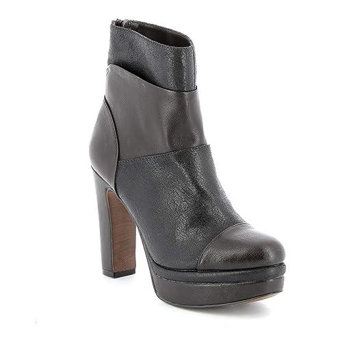 ALESYA by Scarpe&Scarpe - Botines Altas multimateriales, con Tacones 11 cm: Amazon.es: Zapatos y complementos