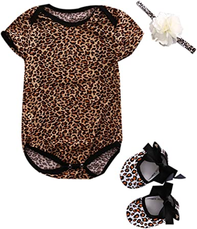US Newborn Kid Baby Girl Clothes Sleeveless Leopard Tulle Romper Bodysuit Outfit