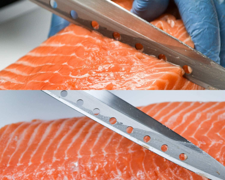JapanBargain 1551, Non-Stick Yanagiba Sashimi Knife Japanese High Carbon Stainless Steel Sushi Chef Knife Made in Japan, 200mm