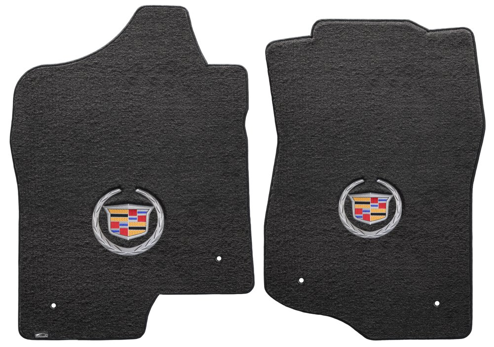 2007-2014 Lloyd Mats Cadillac Escalade EXT 2 Piece Velourtex Ebony Carpet Floor Mats w//Cadillac Logo