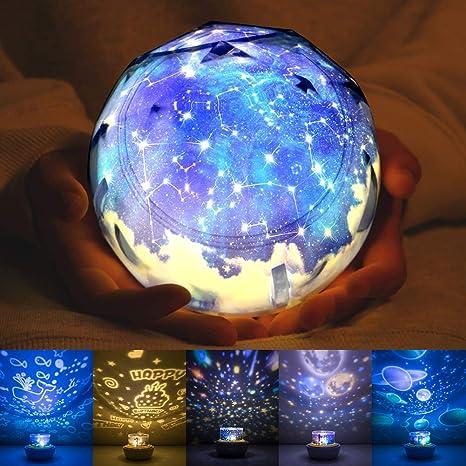 Luz nocturna para niños, una lámpara de proyección del universo de ...