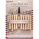 Mont Marte Clay Tool Set, 11 Piece. Selection of Clay Tools to Create Texture, Smooth, Cut and Carve Clay. Suitable for Use w