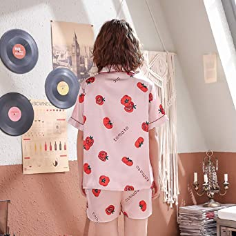 Loolik Mujer Conjunto de Pijama Lindo con Estampado de Tomate ...