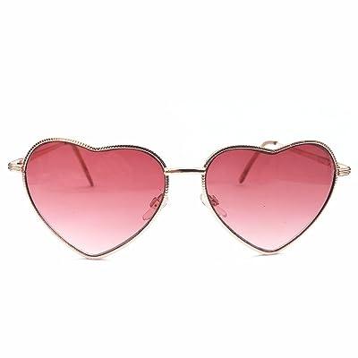 Burenqi@ Amour All-Match Heart-Shaped Gradient Lunettes de soleil