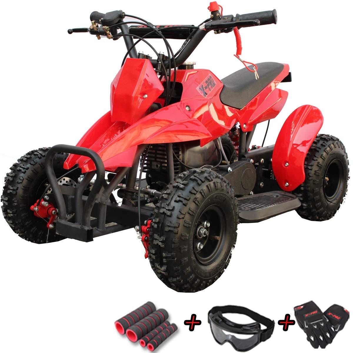 Goggle and Handgrip X-Pro 40cc Kids ATV 4 Wheelers 40cc ATV Quads Kids Quad with Gloves