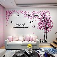 Alicemall 3D Adesivi Murali Wall Sticker Forma Albero Adesivi da Parete in Acrilico Foresta con Multicolore Foglie