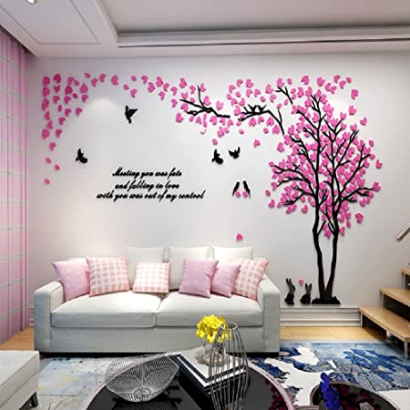 Alicemall 3d Wall Stickers Forest Wall Decal Easy To Install Apply