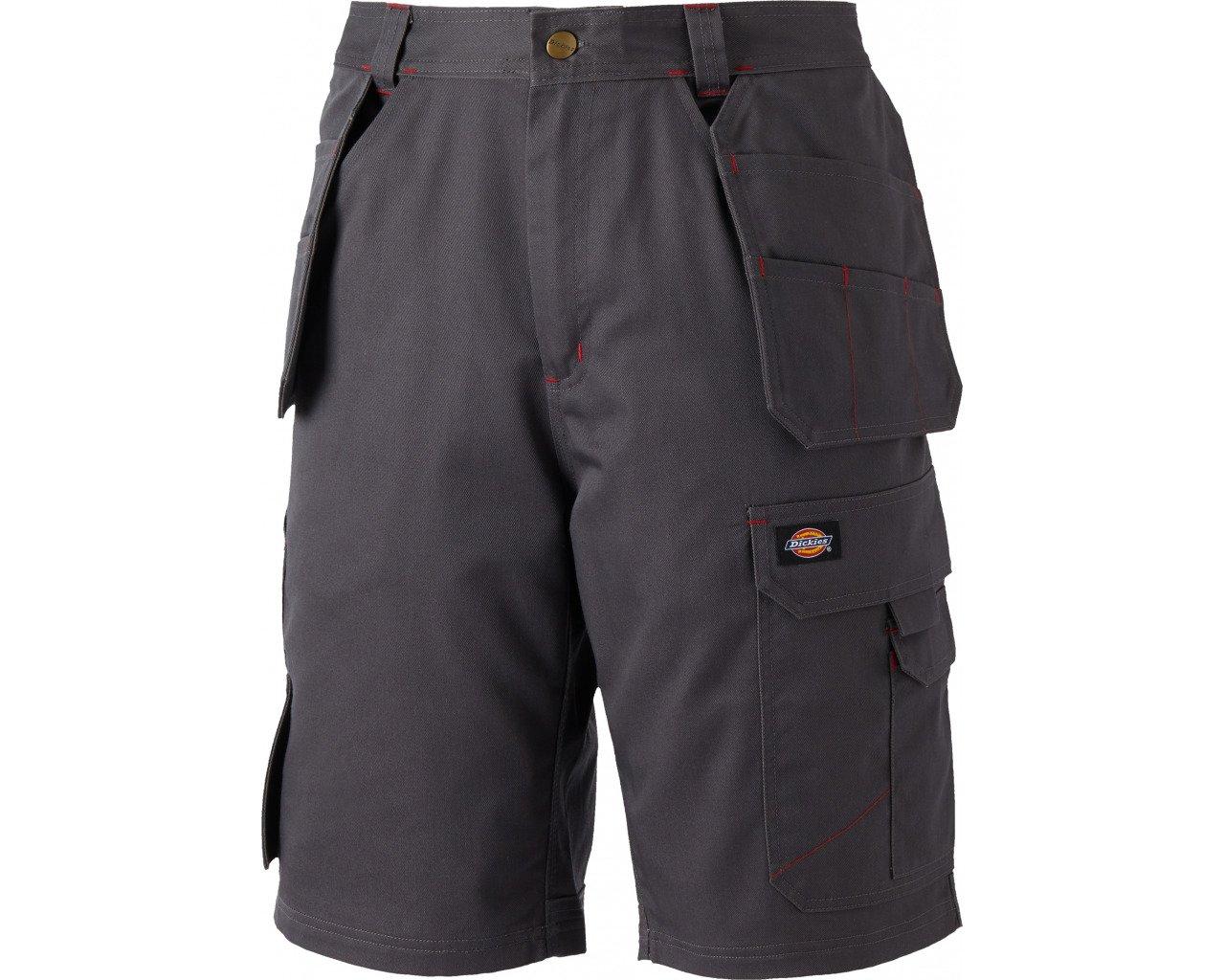 Size 28 Dickies WD802-GR-28 Red hawk Pro Work Short Grey