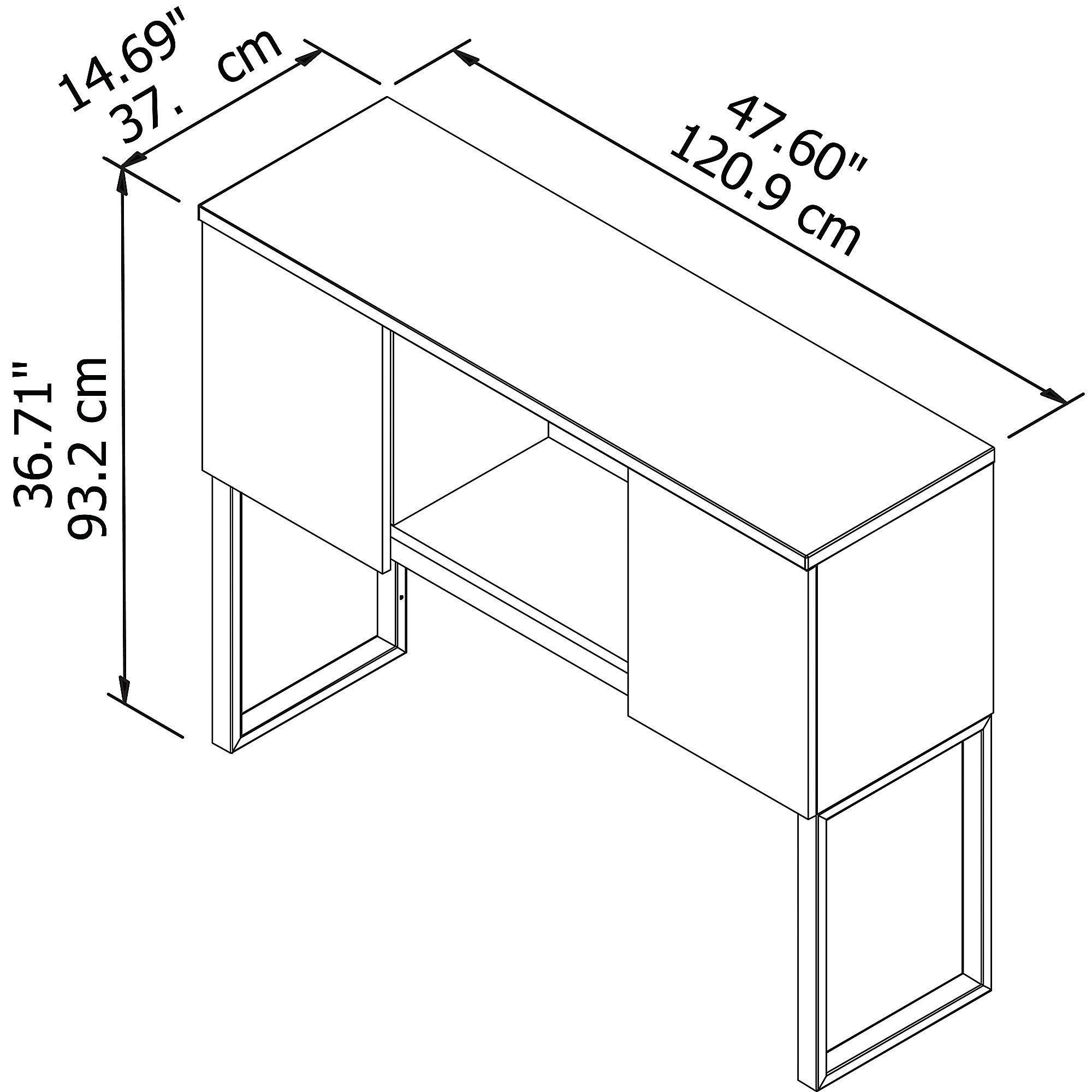Bush Business Furniture 400 Series 48W Hutch in Storm Gray by Bush Business Furniture (Image #5)
