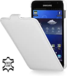 StilGut UltraSlim Case, custodia in pelle per Samsung Galaxy Note 1 N7000, bianco