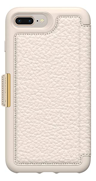 buy popular 4b3f5 28c73 OtterBox Strada Series Folio Case for iPhone 8 Plus & iPhone 7 Plus (ONLY)  - Non-Retail Packaging - (Soft Opal)