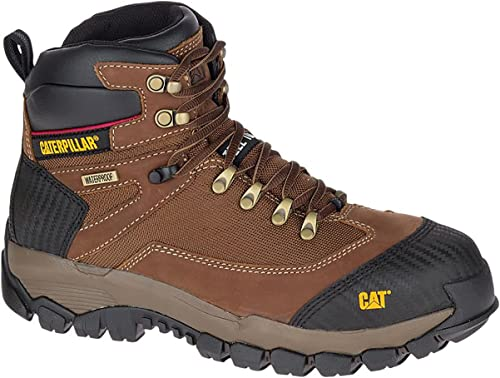 Mens CAT Leather Safety Work Boots