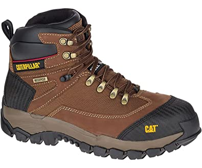94dda4d56062 Mens CAT Leather Safety Work Boots Steel Toe Water Resistant, Non Slip &  Lightweight Hiking Style: Amazon.co.uk: Shoes & Bags