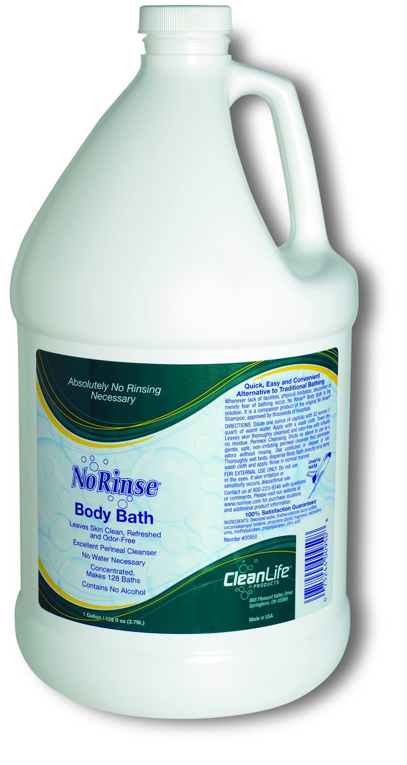 Clean Life Products No Rinse Body Bath Bottle, 1 Gallon